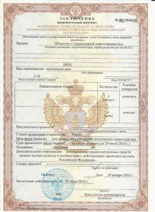 Заключение Разрешение на ввоз РЭС ВЧУ Роскомнадзор
